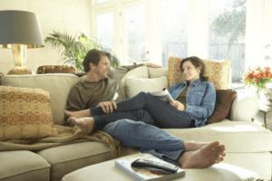Comfortable couple scene